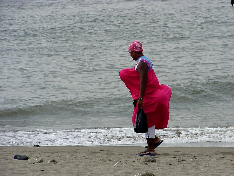 the pink Candy seller