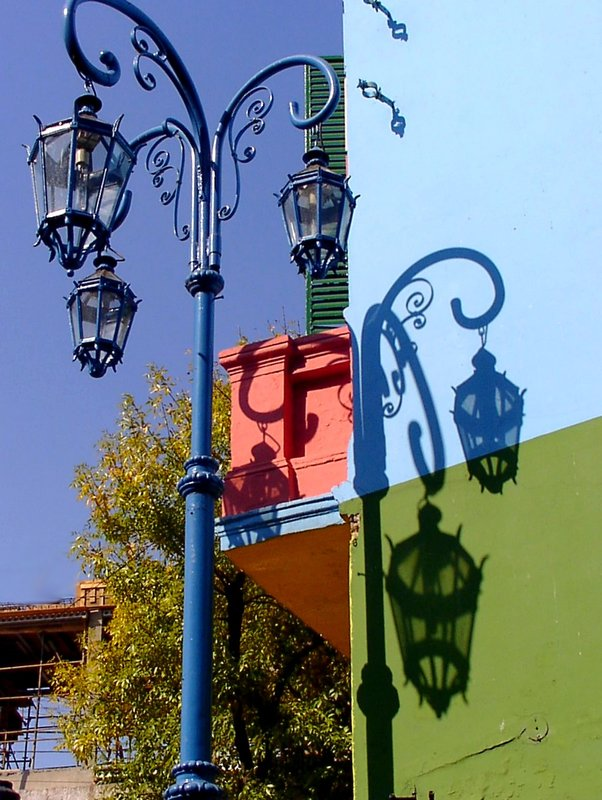 the shadows at the wall