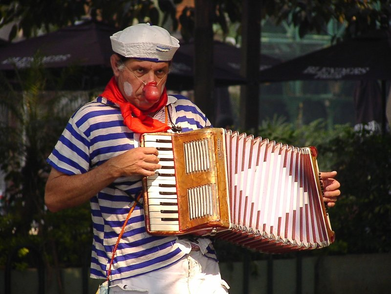 Bandoneon player in Buenos Aires
