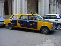 Lada strech limo in Havana
