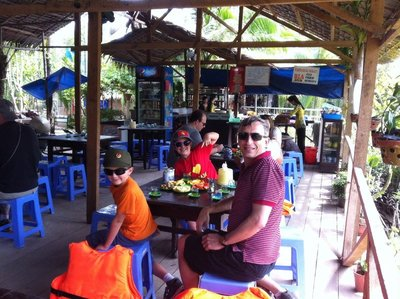 Lunch Mekong river