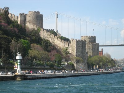 Istanbul Bosphoruos Rumeli Castle and Fatih Sultan Mehmet Bridge on Boat Ride