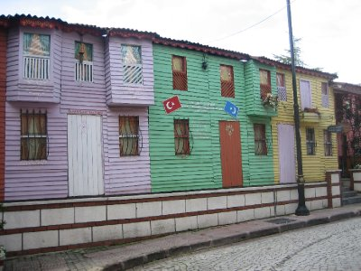 Istanbul Colourful House Fronts