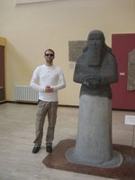 Phil and Statue in Istanbul Museum of Archeology