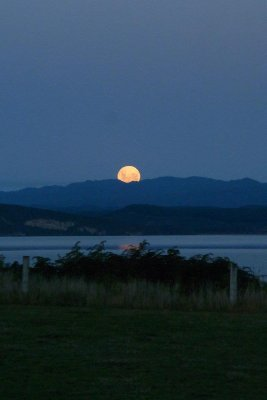 The Moon Rising Over Lake Taupo 05 - Taken by Margaret