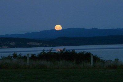 The Moon Rising Over Lake Taupo 04 - Taken by Margaret