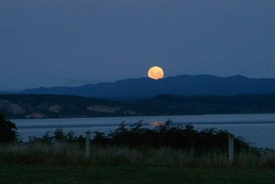 The Moon Rising Over Lake Taupo 02 - Taken by Margaret
