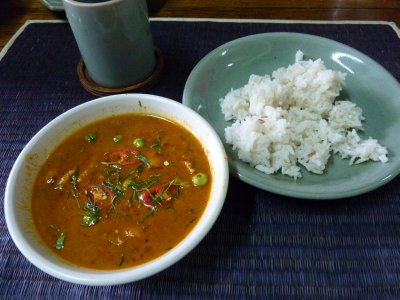 Panaeng Curry with Port and Sticky Rice - Made by me
