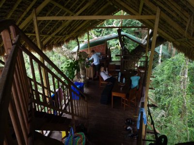 Inside our treehouse
