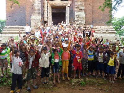 School trip to Angkor Borei