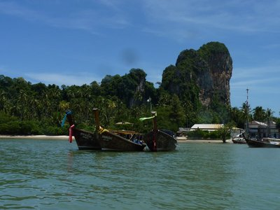 Krabi's coastline from the boat ride to Railay Beach