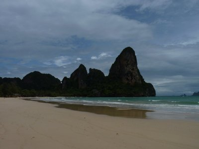 Incredible scenery from West Railay Beach, Krabi during a brief break from the rain