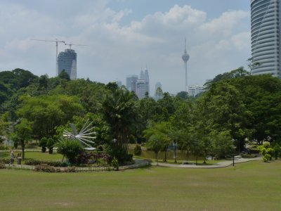 ASEAN Sculpture park and KL skyline beyond