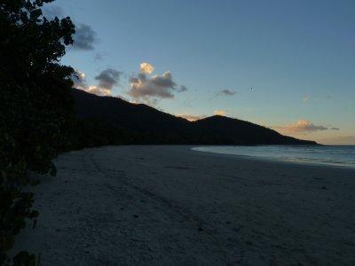 Sunset beyond Cape Tribulation Beach