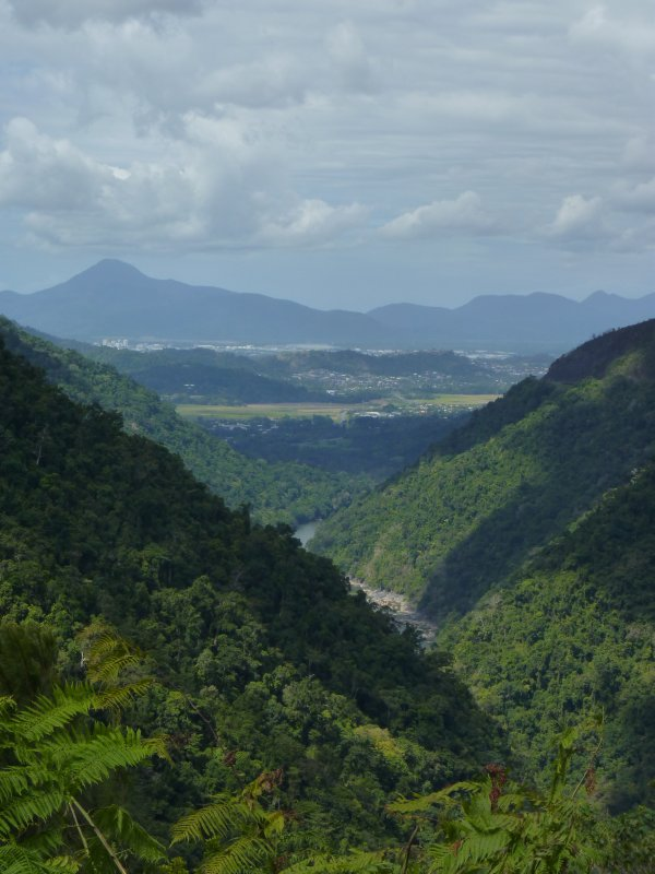 View from the McDonald track looking back to Cairns and beyond