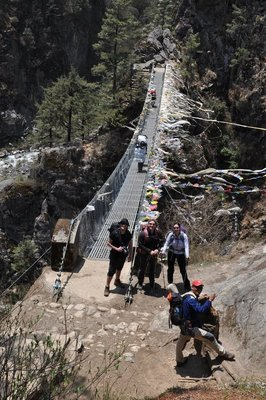 Nepal suspension bridge