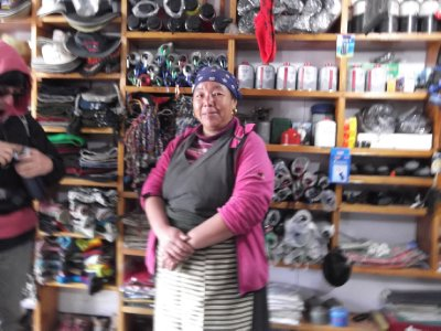 Sherpa lady-store owner in Lukla