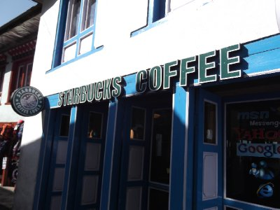 Fake Starbucks in Lukla
