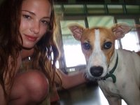 Happy Jamaican Dog & Me