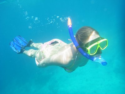 Snorkelling in the crystal blue waters, paradise!