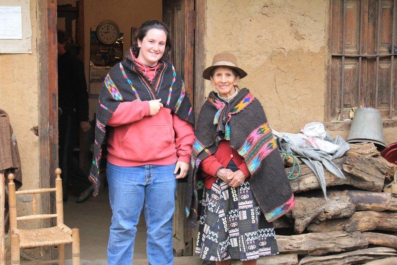 Buying some peruvian ponchos