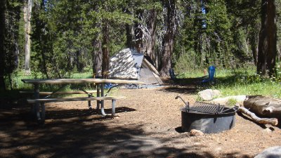 Campsite at Porcupine Flat Campground