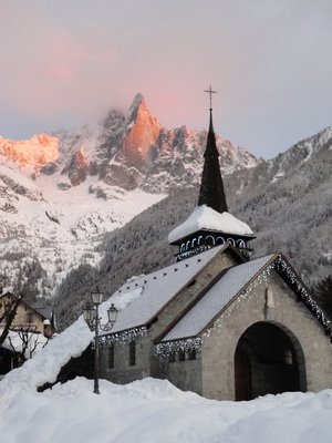 Les Praz at sunset