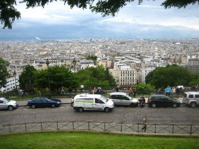 from the steps of sacre coeur