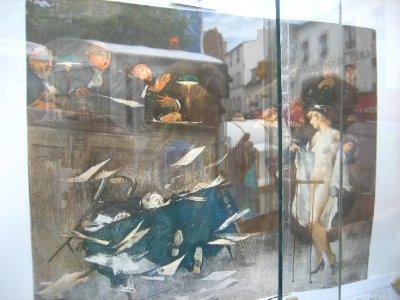montmarte - art in a window