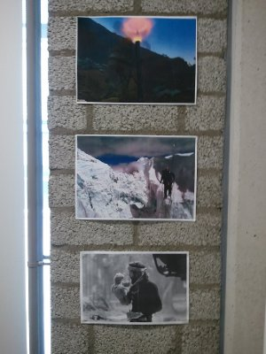 photos on the wall in my office