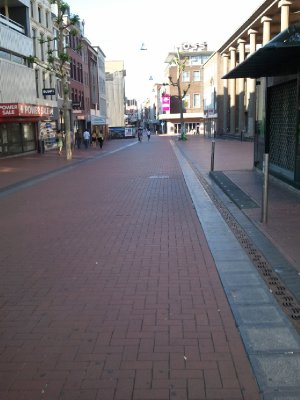 walking around city center