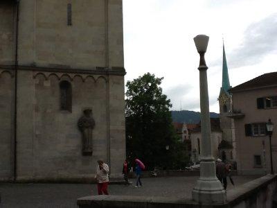 walking around zurich - same church and i wish i could've taken photos - google grossmunster zurich church windows