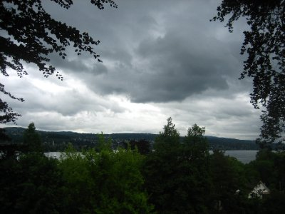 view near museum rietberg - the rain was coming in