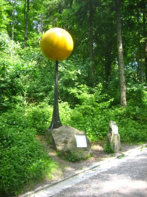 ridge line hike - model of the sun; they have a hiking path where they have made models of scaled to correct relative size/distance planets