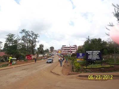 Road into Downtown Eldoret