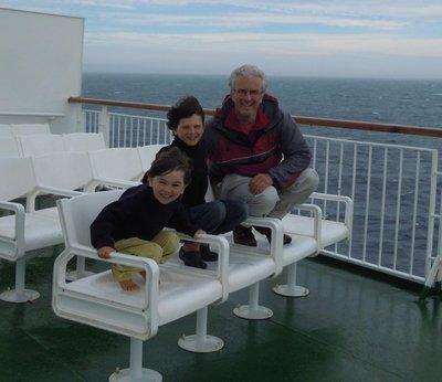 boys on ferry