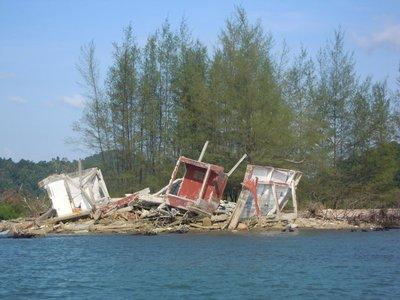destroyed by tsunami