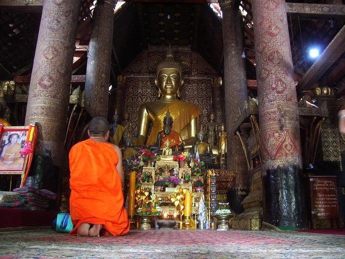 A Monk in Wat Xieng Thong
