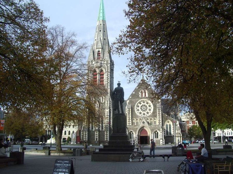 church in the sqare during the day