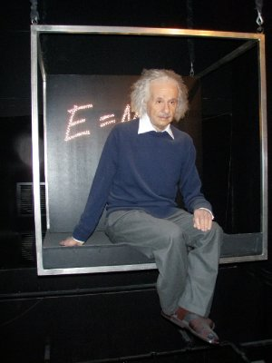 Albert Einstein at the Madam Tussad - Amsterdam, Holland