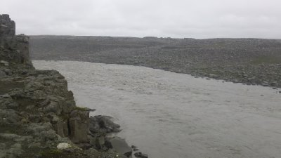 Water feeding into Dettifoss