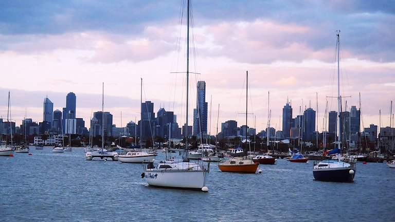 Melbourne from St. Kilda Breakwater