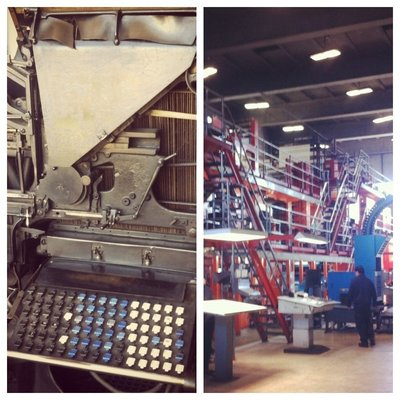 Old and new printing press