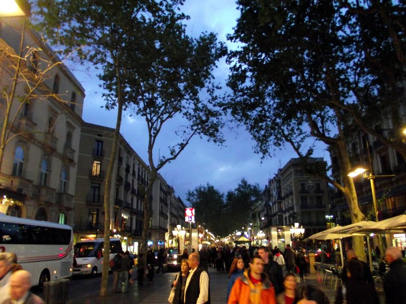 Espanha, Barcelona - Ramblas (Noite)
