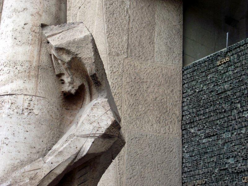 Espanha, Barcelona - Sagrada Família (Fachada da Paixão)