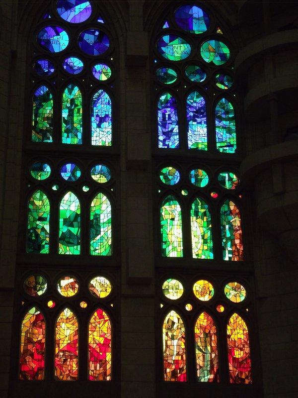 Espanha, Barcelona - Sagrada Família (Vitrais)