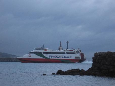 The ferry across the Gibraltar Strait