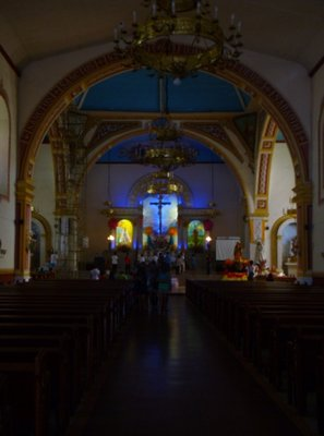 Inside Lucban Church.