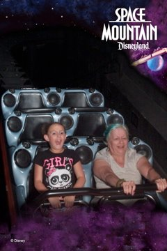 Space Mountain-Bella and me