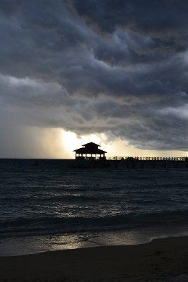 Calm sea...angry sky